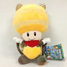 """New Super Mario Bros. Plush Flying Squirrel Yellow Toad Soft Toy Stuffed Doll 9"""""""