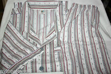 Original 70er Jahre Diolen Pyama Schlafanzug Kurzarm Gr. 58 Grau Shorty Retro