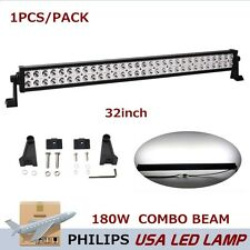 Philips 32inch 180W LED Driving Work Light Bar Spot Flood Lamp Truck 4WD JEEP