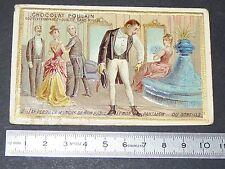 CHROMO CHOCOLAT POULAIN 1890-1910 ai perdu manche de mon habit et mon pantalon..