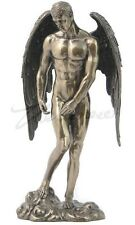 Winged Male Nude Angel Statue Standing on Heavens Sculpture Figure 11-INCH TALL