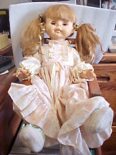 VINTAGE 1970s EFFANBEE 16in DOLL WITH ROCKING CHAIR (DOLL14-2)