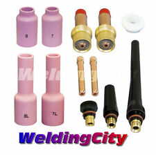 "WeldingCity Gas Lens Accessory Kit (3/32"") for TIG Welding Torch 17/18/26 T14B"