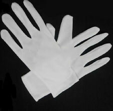Cotton Blend New White Terylene Micro Dotted Grip / Fine Handling Gloves AU JC