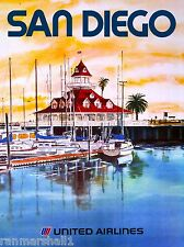 San Diego California Del Coronado United States Travel Advertisement Poster
