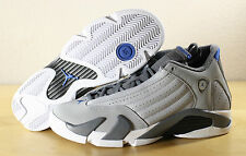 New Nike Air Jordan 14 XIV Retro BG GS Sport Blue Wolf Grey 487524-004 Sz 7Y