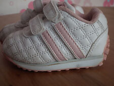 Girl Shoes - Size 4, white and pink      (105)