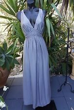 NWTS  Katherine Grey Silk Maxi Dress With Embroidery  Size 10 RRP $240