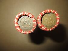 2 MIXED WHEAT INDIAN HEAD PENNY SHOTGUN ROLLS WITH INDIAN CENT END COIN! LOT NN2