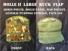 MOLLE II PANEL LARGE RUCK FLAP MAP POCKET ADMIN GENERAL PURPOSE POUCH WOODLAND