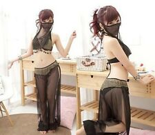 Sexy Tempt Face Veil Belly Dance Costume Wear Top With Bra Skirt Dress Set Suit