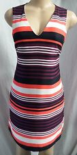 """""""ANN TAYLOR"""" MULTI-COLOR STRIPED CAREER COCKTAIL SHIFT DRESS SIZE: 8 NWT $120"""