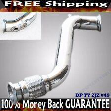 "SS Downpipe for 93-98 Toyota Supra 2JZGT 2JZ-GTE 2 bolt flange 3"" V-band flange"