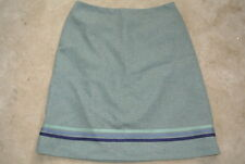 New ANTHROPOLOGIE - MINT GREEN Wool A-Line Skirt By TOCCA Size 12 L NEW NWT $298