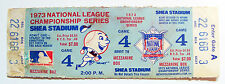 NY Mets Reds Shea Stadium NLCS Gm 4 10/9/73 FULL ticket Rose hits HR in 12th