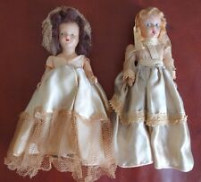 "Pair 2 Antique 8"" Porcelain Dolls Dutch/German? from Lancaster PA Rural Area"