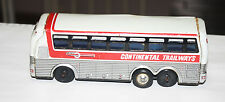Vintage Japan Tin Friction Continental Trailways Silver Eagle Bus