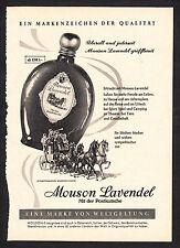 3w2323/ Alte Reklame von 1960 - MOUSON LAVENDEL - Mit der Postkutsche