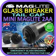MAGLITE MINI 2AA FLASHLIGHT TORCH UPGRADE TAIL CAP GLASS BREAKER  BLACK