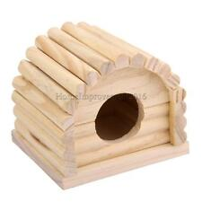 Natural Wooden Hamster House Shelter Dome Toy Detachable for Pet Mouse Rat