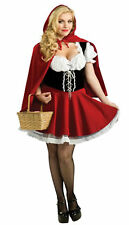 Womens Little Red Riding Hood Halloween Party Costumes Fancy Dress UK Size 18-20