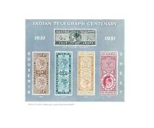 INDIA 1951 - 53 Telegraph Centenary 1st Souvenir Sheet MINIATURE SHEET, MNH