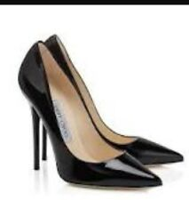 NEVER WORN Jimmy Choo Black Patent Anouk Heels Size 37 (US 6.5)