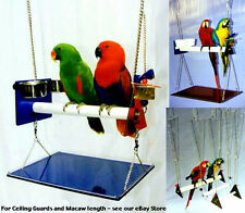 PARROT SWING/GYM SETS w/cups, tray, toy