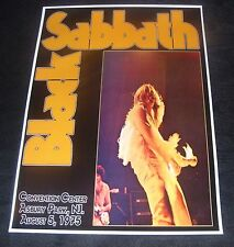 Black Sabbath concert poster Convention Center  NJ. USA 1975  A3 size repro