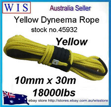 18000LBs 10mm x 3m Yellow Synthetic Winch Line Cable Rope w Sheath ATV UTV-45932
