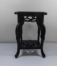 Solid China wood handwork carved stand For vase teapot statue 002