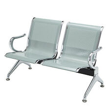 Heavy Duty Waiting Chair Bench Salon Barber Corridor Airport Reception 2-Seat
