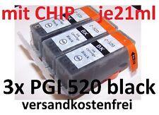 3 für CANON Patronen Tinte mit Chip PGI-520 XL MP 540 MP 550 MP 560 MP 620 NEU