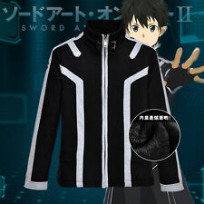 Anime Sword Art Online Kirito Shirt Unisex Jacket Sweatshirt Hoodie Cosplay Coat