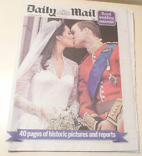 ROYAL WEDDING NEWSPAPERS  The Daily Mail Prince William & Kate Middleton JOB LOT