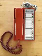 GROOVY 1970s TELEPHONE. ORANGE WESTERN ELECTRIC 'TOUCH A MATIC'. WORKS GREAT!