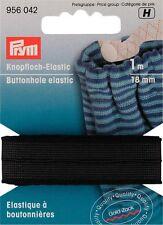 Prym Knopfloch-Elastic 18mm/1m schwarz Gummiband Hosengummi 956042