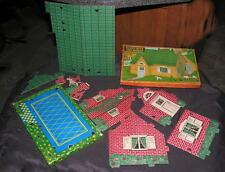 "VTG 1930'S BUILT RITE COMPLETE CARDBOARD TOY 8"" DOLL HOUSE IOB, EX COND"