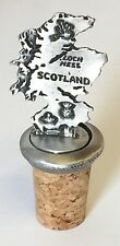 Map Of Scotland Hand Crafted Pewter Bottle Stopper Wine Saver