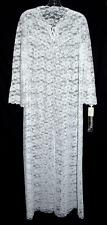 Vassarette White Flowered Lace Long Robe with Scalloped Bottom NWT Made In USA