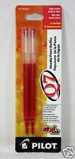 4 PACK FINE POINT GEL RED INK PILOT PEN REFILLS NEEDLE POINT HOME OFFICE SCHOOL