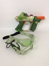 2004 Tiger Electronics Green Lazer Tag Team Ops Laser REPLACEMENT Gun & Glasses