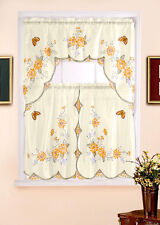 FLORAL, COMPLETE TIER & SWAG SET, KITCHEN CURTAIN SET, KITCHEN CURTAINS