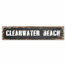 SP0252 CLEARWATER BEACH Street Chic Sign Bar Store Shop Cafe Home Wall Decor