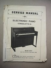 Lo Duca Service Manual Electronic Piano Consolette 61 Manual