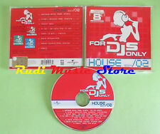 CD FOR DJS ONLY HOUSE 2004/02 compilation 2004 JUNIOR JACK MAT'S DJ JANI (C33)
