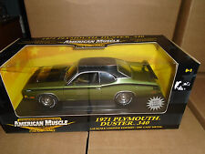 ERTL AMERICAN MUSCLE 1:18 SCALE 1971 PLYMOUTH DUSTER 340 GREEN/BLACK RARE! NEW