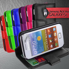 3 Colour Side Wallet Leather Case Cover for Samsung Galaxy ACE Plus S7500 S7500T