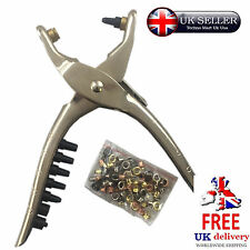 Eyelet Plier Tool Hole Punch Kit Leather Belt Card Fabric Canvas Craft Plastic
