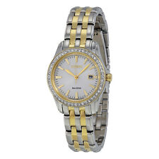 Citizen Silhouette Crystal Silver Dial Two-tone Ladies Watch EW1908-59A